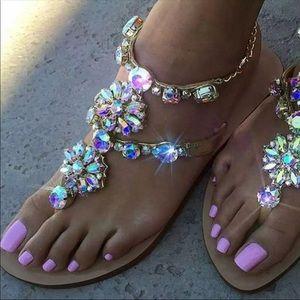 Crystal Gold Sandals